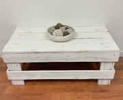 Rustic Coffee Table Barn Wood Reclaimed Wood Living Room Distressed White New