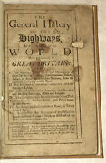 Nicolas Bergier General History Of The Highways In All Parts Of The World 1712