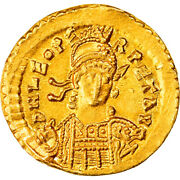 [876984] Coin Leo I Solidus Constantinople Au55-58 Gold Ric605