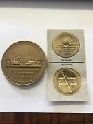 1869-1969 Golden Spike Centennial Railroad Commemorative 2-1/2 Medal W Papers