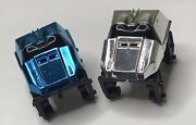 Knex Roller Coaster Car Lot Silver And Chrome Blue Replacement Parts Micro K'nex