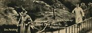 C1918 Wwi General Pershing American Front Line Trench Inspection Gen. Dand039esperey