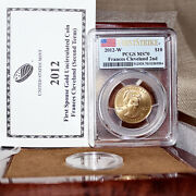 2012 W 10 Frances Cleveland Gold Comm Coin 2nd Term Pcgs Ms70 First Strike