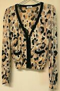 Moschino Jersey Knit Button Front Long Sleeve Cardigan Size 8 Made In Italy