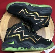 Nike Air Pippen Camo Black Flash Lime Green Anthracite Sz 11