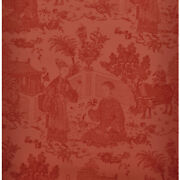 Brunschwig And Fils Cathay Toile Oriental Asian Wallpaper Red Craft Projects Bty