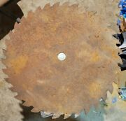Vintage Large 22 1/2 Dia. 36 Tooth Buzz/buck Saw Blade/tractor Pto Belt Driven