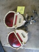 Used 2 Brake Lights, Aluminum, Untested, Scuffs, 24v For Military Vehicles A