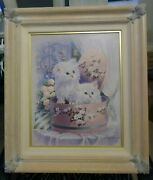 Andres Orpinas Tole Kittens In Hat Box Levin Company Framing