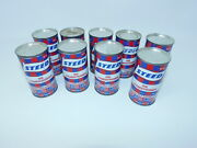 9 Vintage Cans Of Steed Oil Conditioner Advertising Nos Sealed Cans Collectible