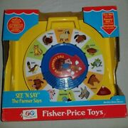 Fisher Price Classic Toys - The Farmer Says See 'n Say - Yellow - Vintage Style