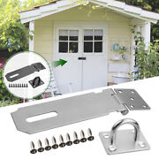 5inch Anti Theft Latch Lock Padlock Clasp Door Hasp Stainless Steel Cabinet Home
