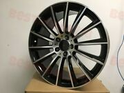 22 Stag Black Machined Face Turbine Amg Style Rims Wheels For S Class W221 W222