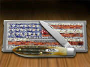 Case Xx Tear Drop Gent Knife 6.5 Bone Stag Handle Stainless Pocket Knives 65308