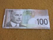 2004 Canadian 100. Bill Bank Note Ejk6941775 Canada Circulated But Good+