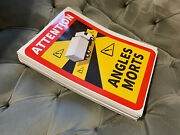 1000 Truck Autocollants Stickers Sign Attention Danger Angles Morts Blind Spot