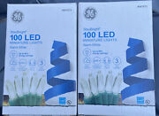 Lot Of 2 Ge Staybright 100-count 24.75-ft Warm White Mini Led Christmas Lights
