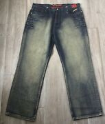 New With Tags Stash House Mens Jeans. Hip Hop Gang Look Metal Guns Money Skull