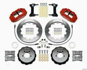 Wilwood 140-12874-r Narrow Superlite 6r Front Hat Kit 13.06in Red 1999-2012 Fits