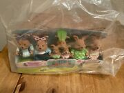 Lil Woodzeez Cottonball Rabbits Family 7 Family Members Ages 3 And Up Brand New