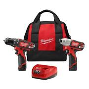 12-volt Lithium-ion Cordless Hammer Drill/impact Driver Combo Kit 2-tool