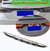 For Toyota Camry 2018-21 Accessories Black Rear Door Trunk Led Tail Light Cover