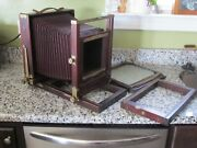 Antique Wood Eastman Kodak Co 2-d View Camera 8x10 W/ Extension Rail And 2nd Back