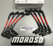 Moroso 52534 Ultra Spark Plug Sleeved Red Wire Set Chevy Ls 90 Degree Plug Boots