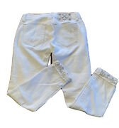 Miss Me White Jeans Tag Size 27 Jp7214ck3 Pants Signature Cuffed Skinny
