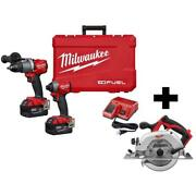 18-volt Lithium-ion Brushless Cordless Hammer Drill Impact Driver Combo Kit