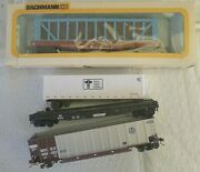 3 Different Walthers Ho Train Freight Cars +1 Box - Bnsf, Atsf, Ns Tote