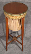 English Adams Paint Decorated Mahogany And Brass Trimmed Sewing Stand Circa 1840