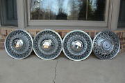1979-89 Chrysler 15 Wire Wheel Cover Oem P/n 4126537 Set Of 4 And3 Center Caps