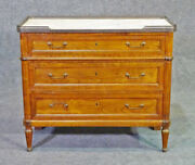 Louis Xvi Medium Sized French Marble Top Foyer Chest Commode Nightstand C1930