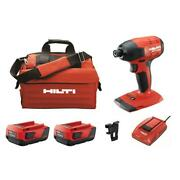 22-volt Lithium-ion 1/4 In. Hex Brushless Cordless Sid 4 Impact Driver Kit