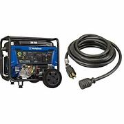 Wgen7500 Portable Generator With Remote Electric Start 7500 Rated Watts , Black
