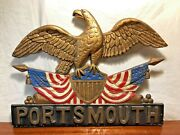 Vintage Federal Eagle Tavern Sign Portsmouth New Hampshire Flags Shield History