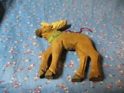 Christmas Ornament Wood Moose About 4 3/4 Inches High
