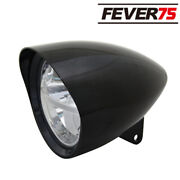 Motorcycle 7 Led Bullet Black Headlight Lamp For Harley Choppers Cnc