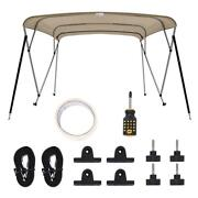 King Bird 4 Bow Bimini Top Outdoor Top Canopy Boat Canvas Cover Clips Shade Us