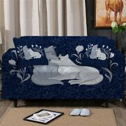 Love Floral Wolf Wild Sofa Chair Couch Cushion Stretch Cover Slipcover Set Decor