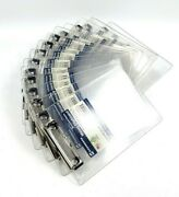 Lot Of 14 New - Saunders 00516 5-1/2 X 8-1/2 Clipboard Clear