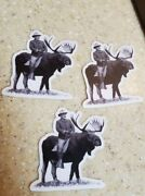 Teddy Roosevelt Bull Moose Party Political Stickers Lot Of 3