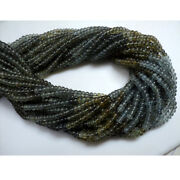 50 Strands Moss Aquamarine Smooth Rondelle Beads 4mm Beads 14 Inches Strand