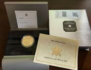 2001 100 Gold Coin 7.75g Fine Gold Canadian Mint With Boxes And Coa