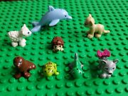 Lego Friends Minifigures Animals Dolphin Sheep Fox Turtle More Lot Of 8