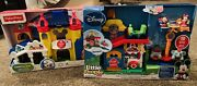 Fisher-price Little People Magical Day At Disney And Day At Disney New Lot Of 2