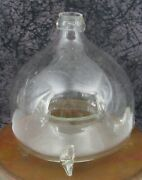 C. 1850 Antique Free Blown Glass Fly Trap Catcher Bottle W/ Applied Neck Ring 3