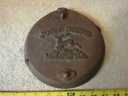 Vintage Cast Iron John Deere Seed Cover Plate. Advertising Decoration Part Piece