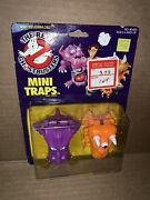 Vintage 1986 The Real Ghostbusters Mini Traps Ghost Figures Sealed